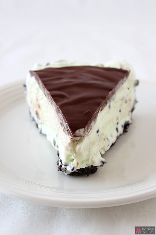 Frozen Mint Chocolate Chip Pie