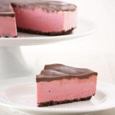 Chocolate Covered Strawberry Ice Cream Pie