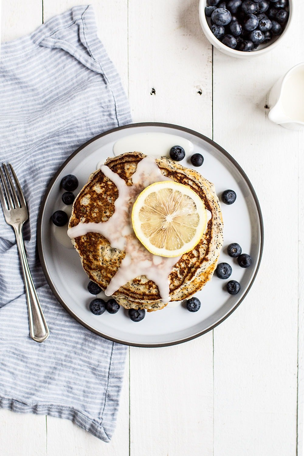These tasty Lemon Poppy Seed Pancakes are soft and fluffy with bites of poppy seeds throughout. They will soon become your family's favorite breakfast!