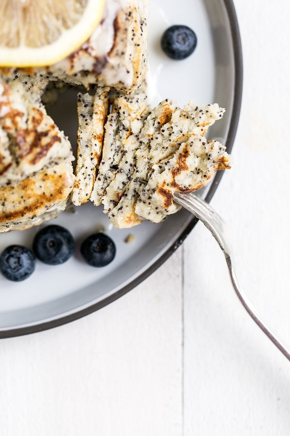 Lemon Poppyseed Pancakes are perfect for a spring Sunday morning, the whole family will love this recipe!