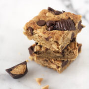 Triple Peanut Butter Blondies from HandletheHeat.com
