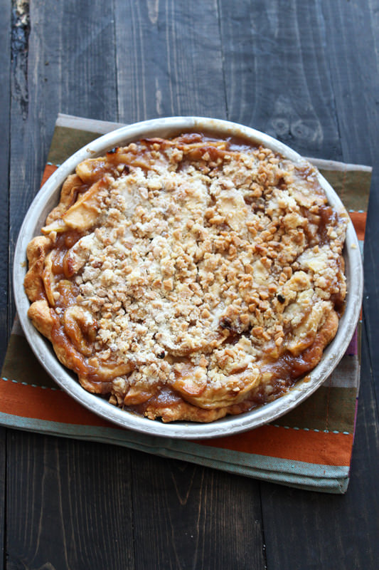 Caramel Apple Streusel Pie is the ultimate apple pie! From ...