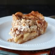 Caramel Apple Streusel Pie - the ultiamte apple pie! From handletheheat.com