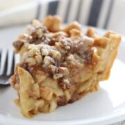 Caramel Apple Streusel Pie, so much better and easier than your average apple pie!