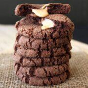 Caramel Stuffed Chocolate Snickerdoodle