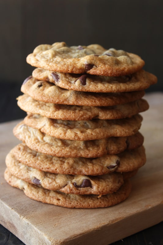 Thin and Crispy Chocolate Chip Cookies, super fast and no mixer ...