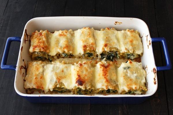 Spinach Artichoke Lasagna Roll Ups - way quicker and easier than regular lasagna!