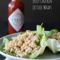 Spicy Chicken Lettuce Wraps and Farro Salad