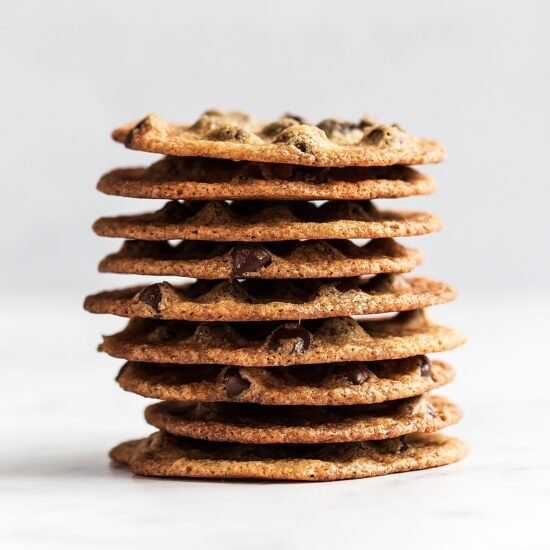 Quick and easy Thin and Crispy Chocolate Chip Cookies for when you're craving that satisfying crunchy chew in a cookie just like Tate's!