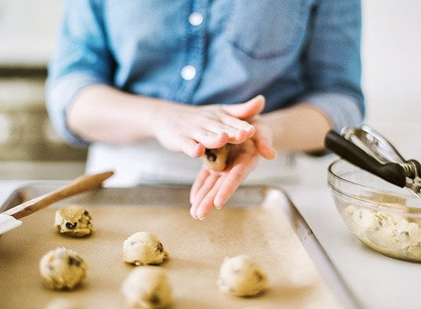 How to make beautiful chocolate chip cookies