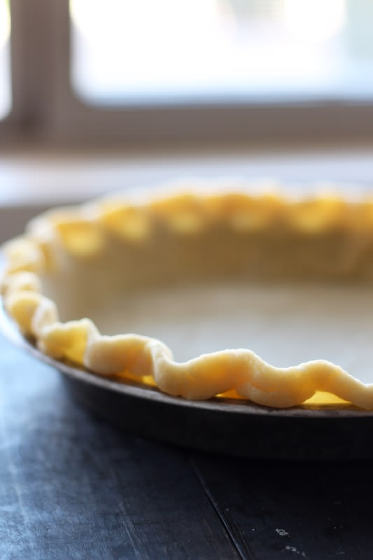 Step by step directions for making homemade pie dough