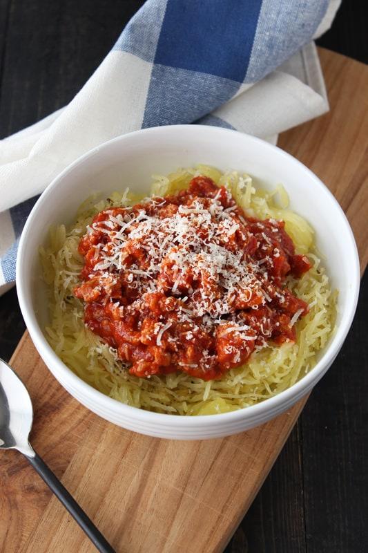 Spaghetti Squash Spaghetti - easy, gluten-free, and low carb!