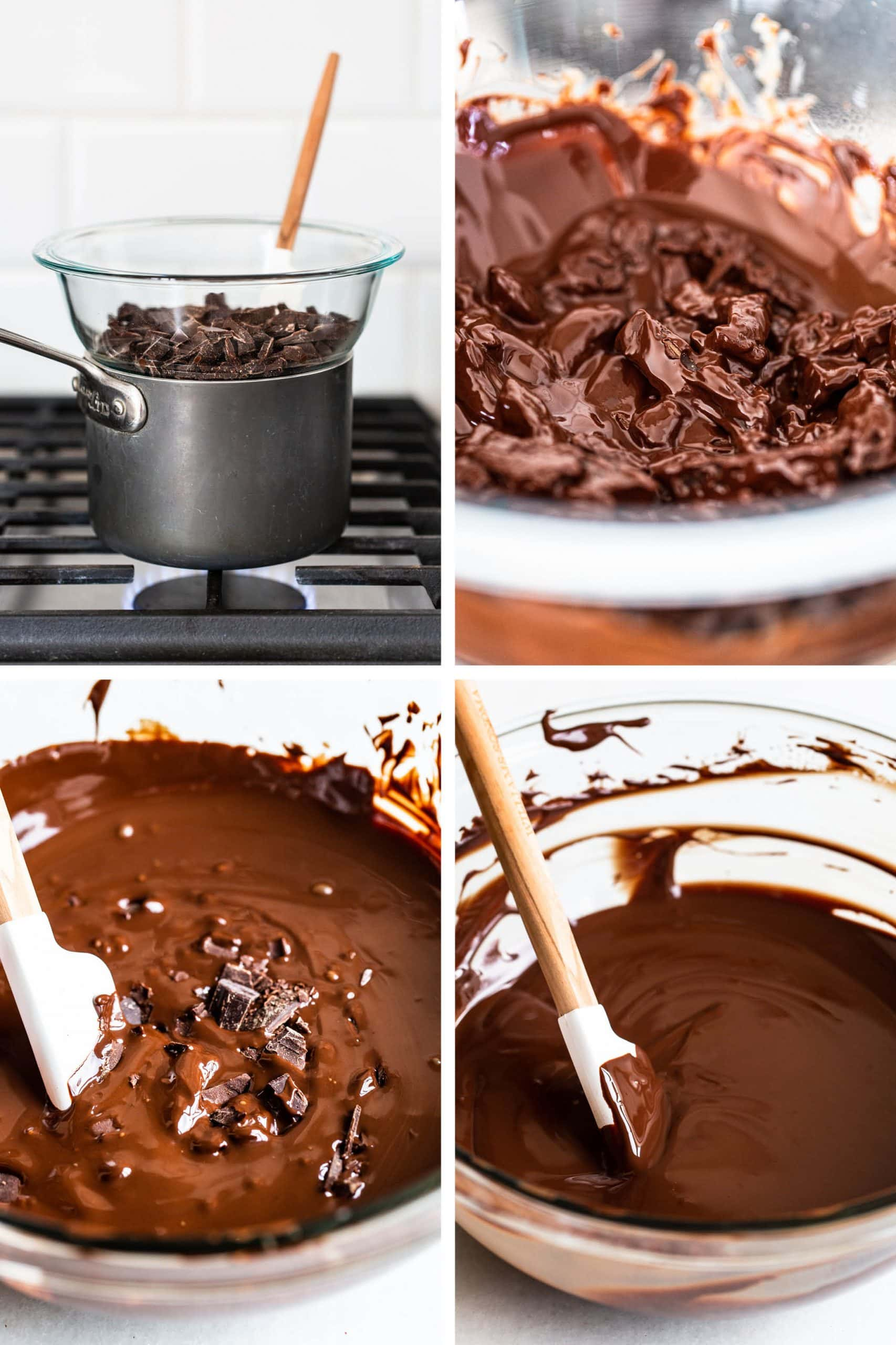 step by step photos of how to temper chocolate