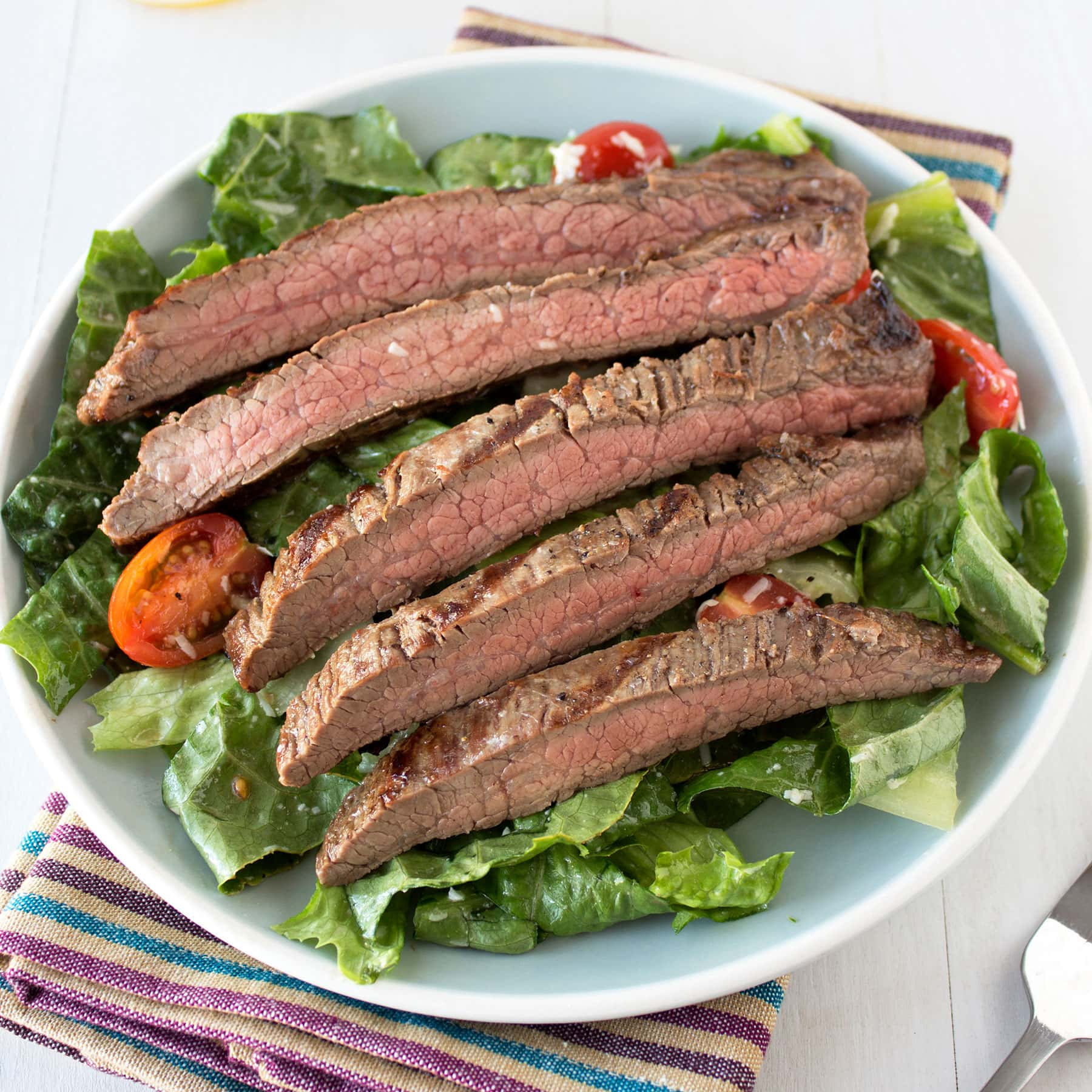 This Easy Grilled Steak Salad recipe is super fresh, flavorful, and simple and bound to become a new favorite!