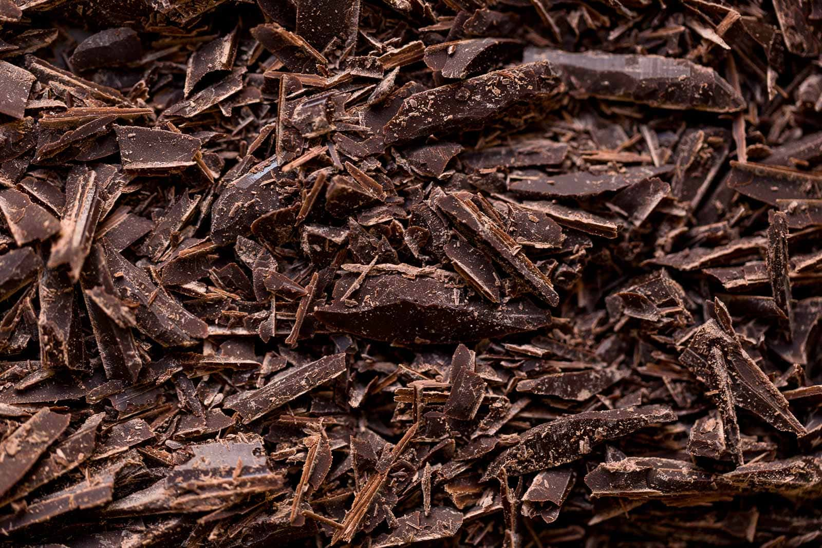 Chopped chocolate for baking