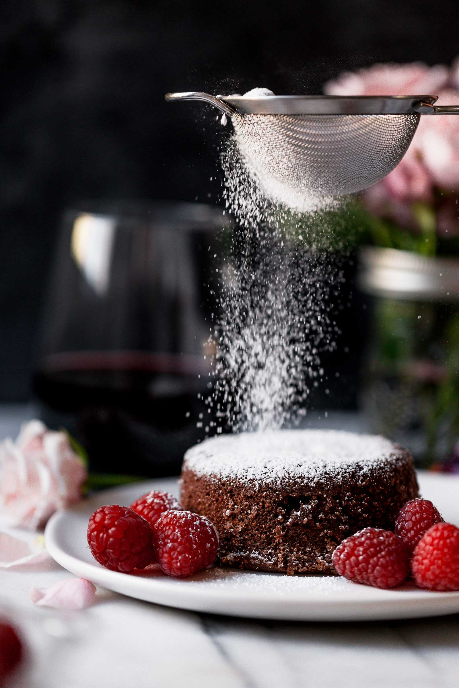 Molten Chocolate Lava Cakes are perfect for Valentine's Day and can be made ahead of time!
