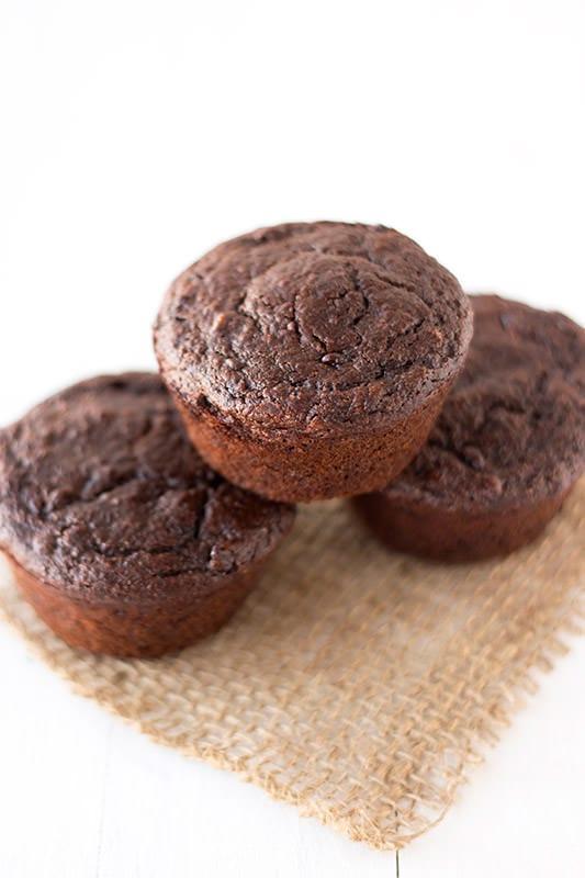 Healthier Chocolate Muffins