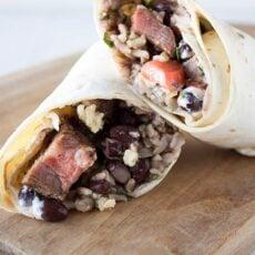 Copycat Steak Burritos
