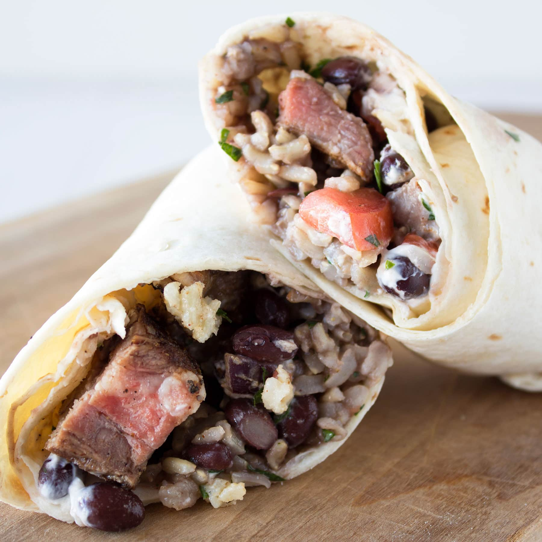 Chipotle copycat Steak Burritos