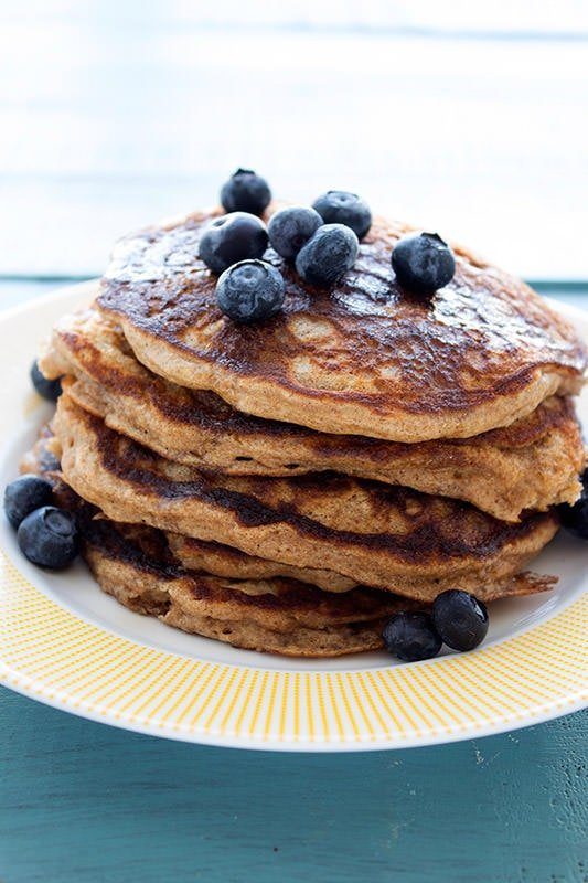 ... and healthier Whole Wheat Pancakes for your next Sunday breakfast