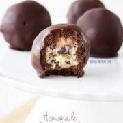 Homemade Cookie Dough Brownie Bombs
