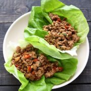 Turkey Lettuce Wraps - fresh, light, and takes less than 30 minutes to make!