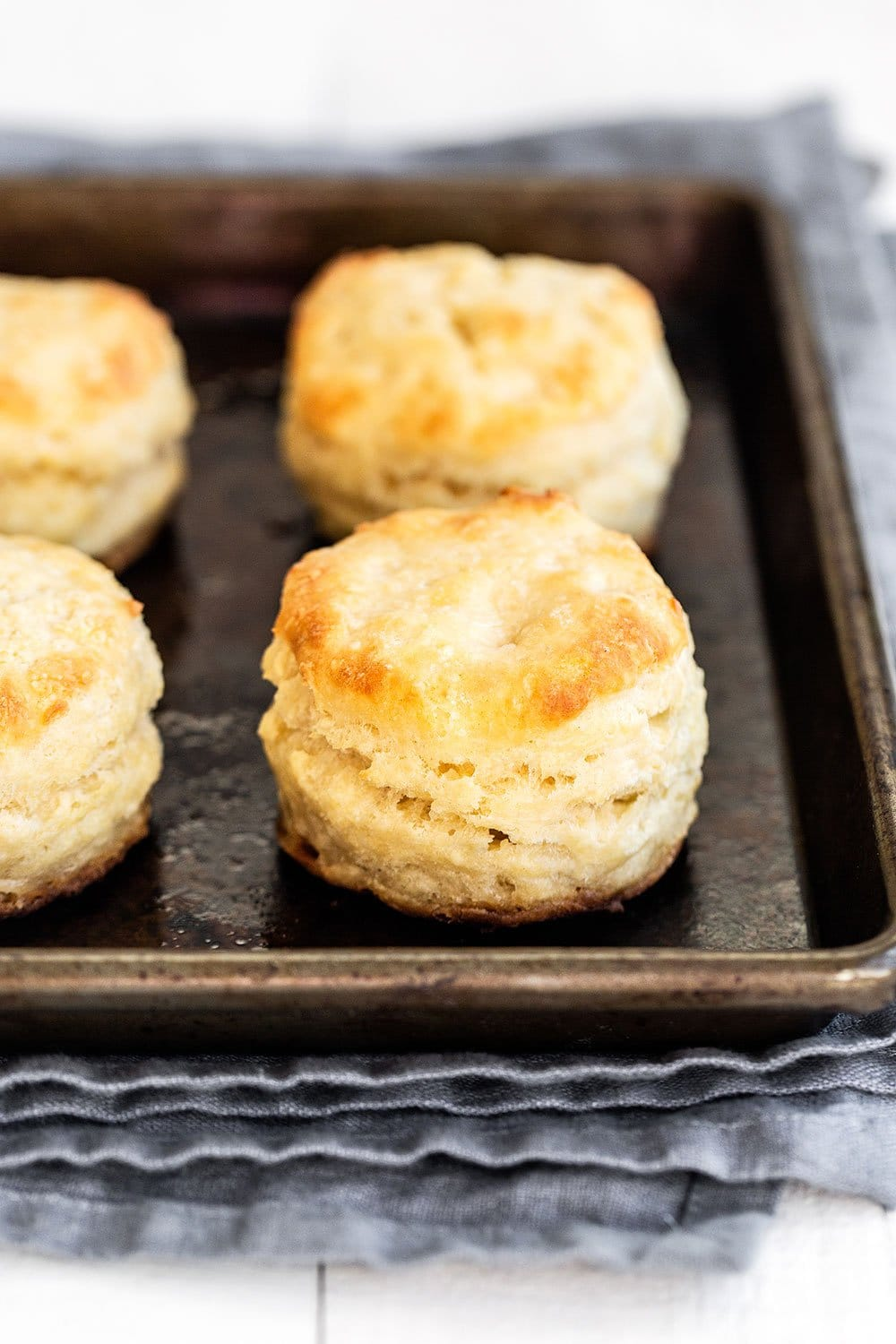 Tray of baked biscuits