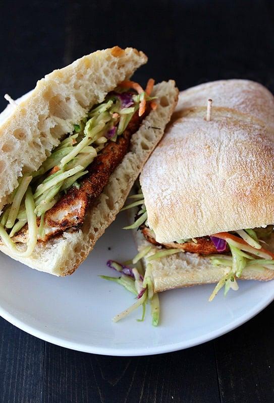 Spicy Blackened Chicken Sandwiches