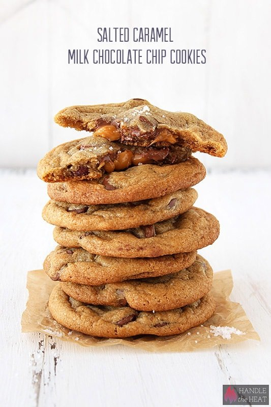 Salted Caramel Milk Chocolate Chip Cookies are a scrumptious twist on ...