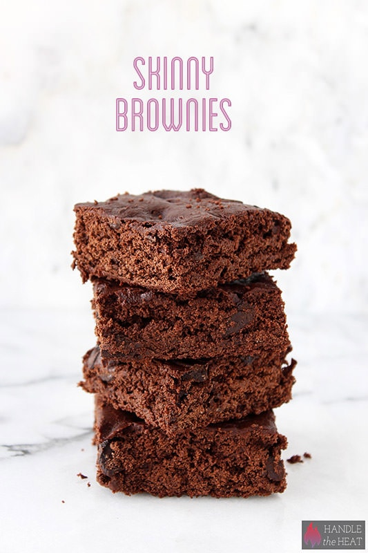 Skinny Brownies made 100% whole wheat with with no butter or processed sugar!!