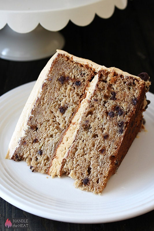 Banana Chocolate Chip Cake with Peanut Butter Frosting - Handle the ...