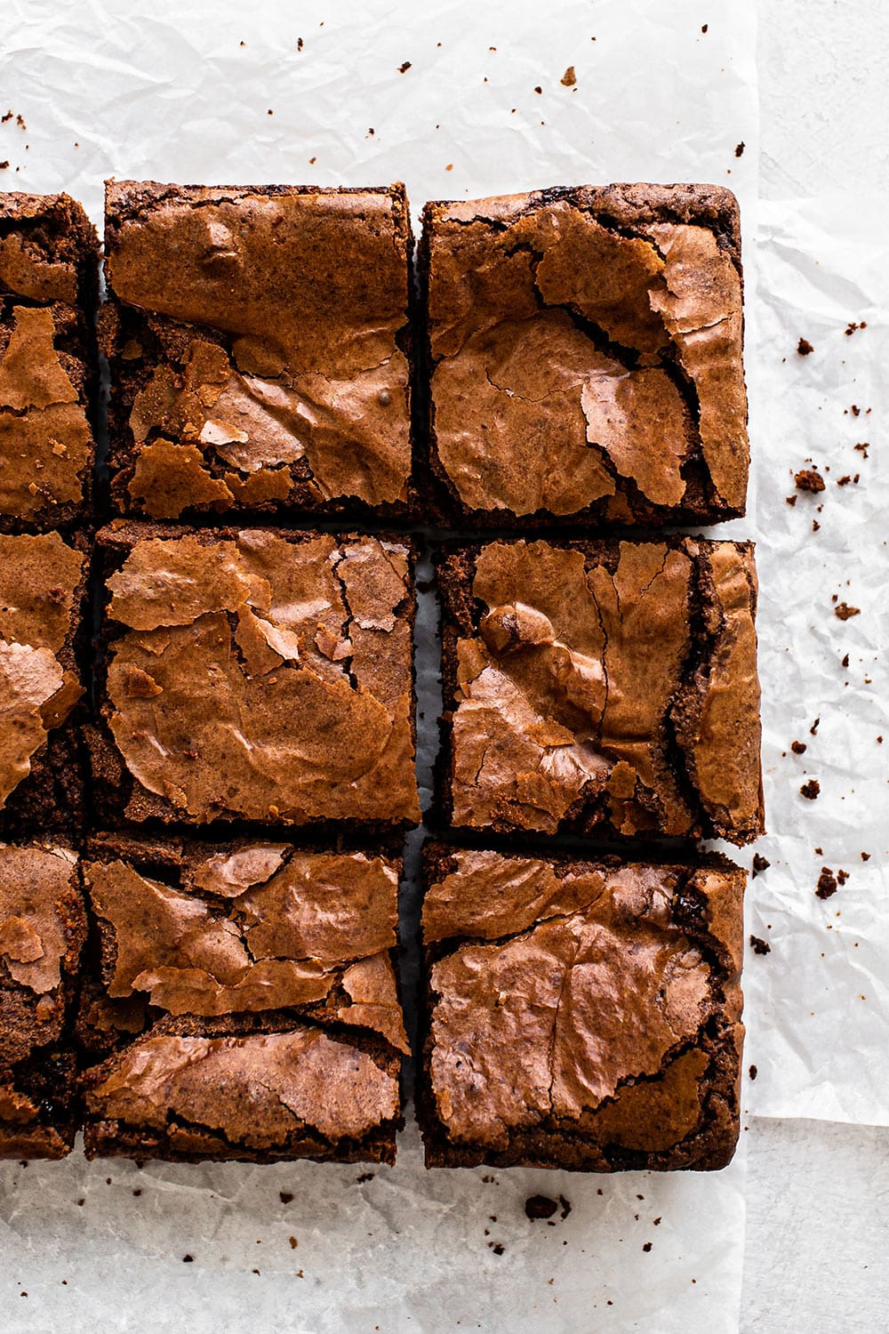 9 squares of the best fudgy Ultimate Brownies!