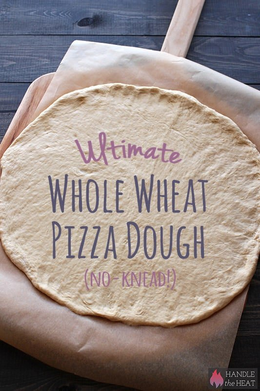 ultimate no-knead whole wheat pizza dough