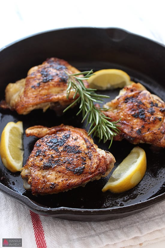 Crispy Chicken Thighs - we loved this!!