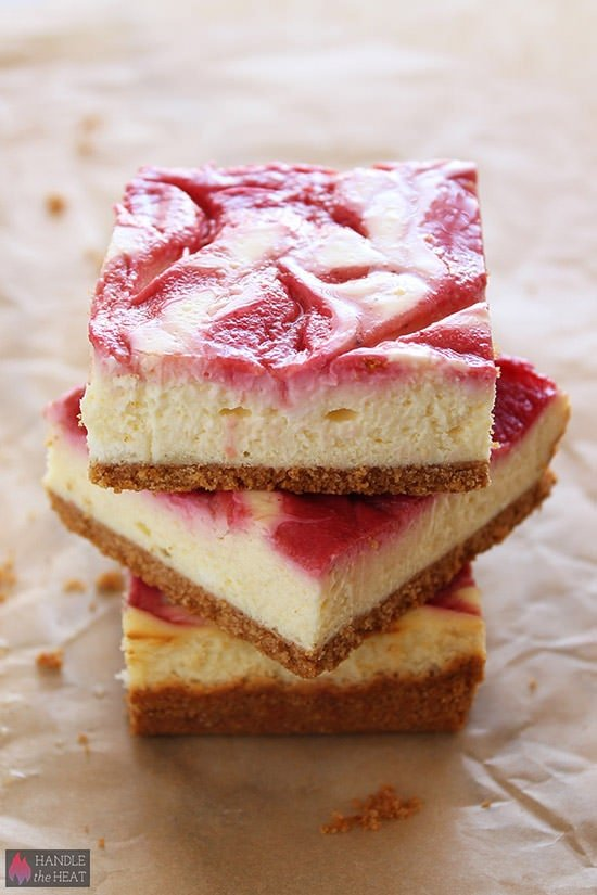 Vibrant Raspberry Lemonade Cheesecake Bars are PERFECT for summer.
