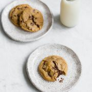 Browned Butter Toffee Chocolate Chip Cookies are loaded with huge flavor and soft yet chewy, ooey gooey texture. These were a HUGE hit!