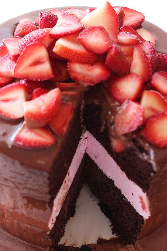 ... chocolate covered strawberry but even better texture the cake is moist
