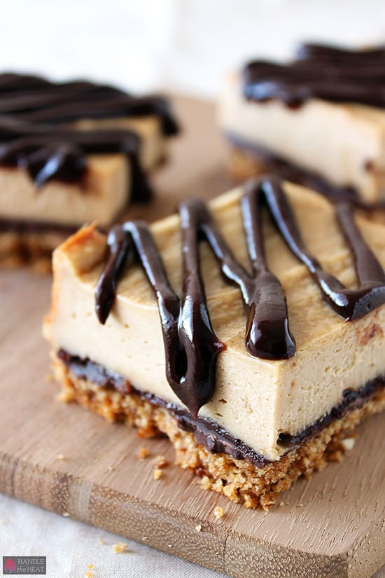 Chocolate Peanut Butter Pretzel Cheesecake Bars