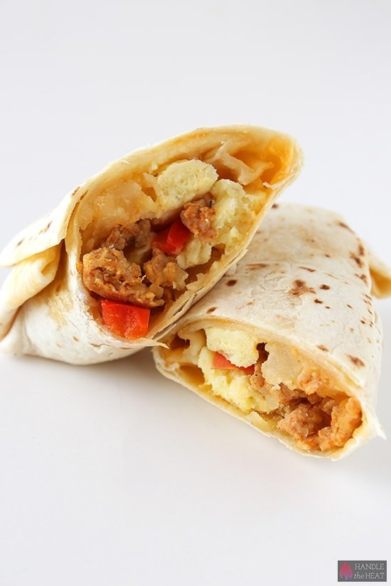 Freezer Breakfast Burritos - Handle the Heat