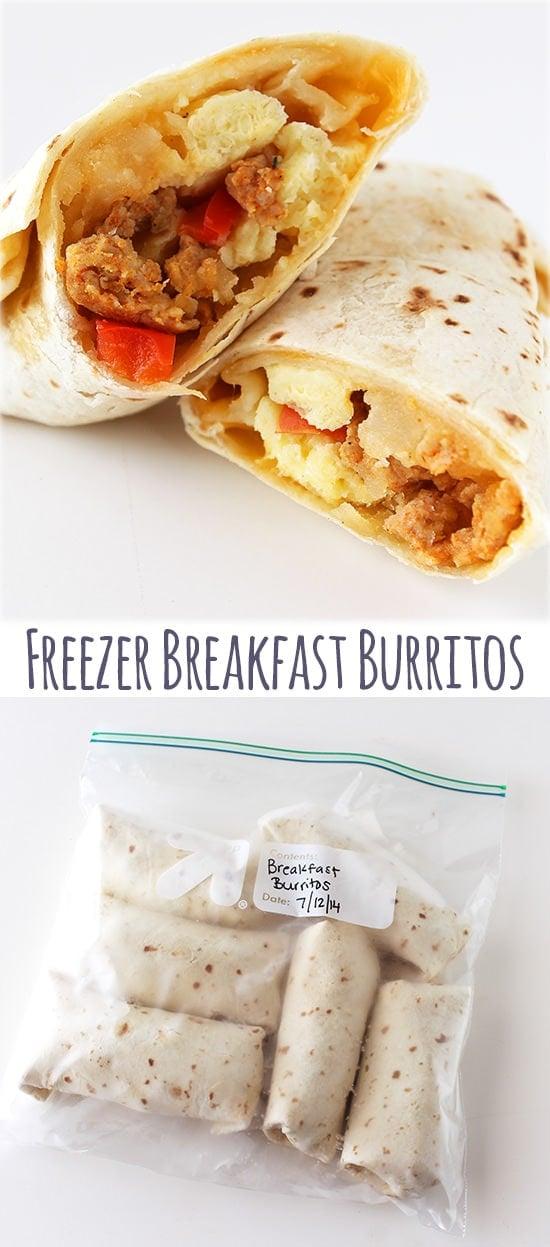 Freezer Breakfast Burritos - reheat in the microwave!