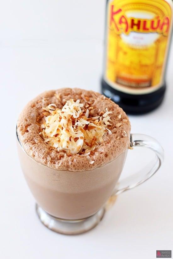 Kahlua Coconut Frozen Hot Chocolate
