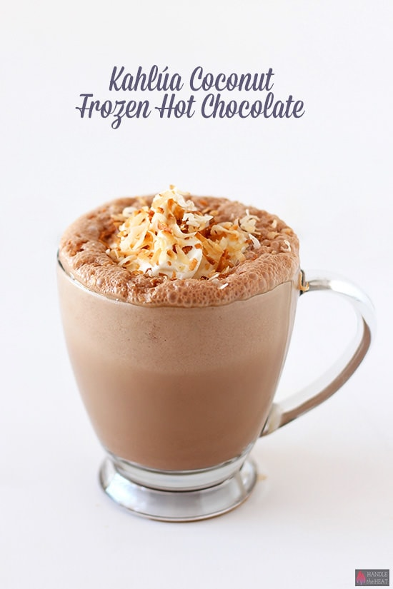 #ad @Kahlua Coconut Frozen Hot Chocolate – perfect summer cocktail! #KahluaSummer