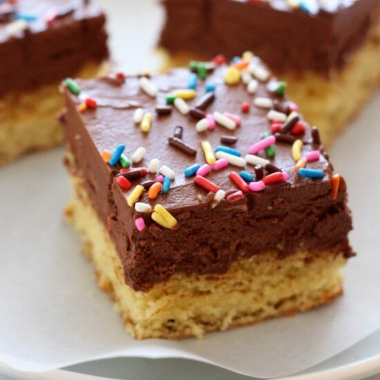 Chocolate Frosted Sugar Cookie Bars