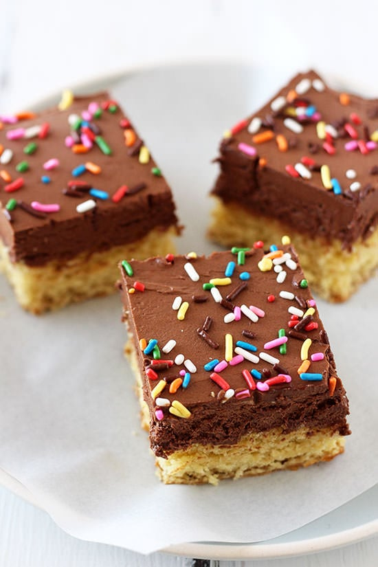 Chocolate Frosted Sugar Cookie Bars Recipe