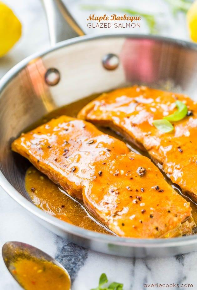 Maple Barbeque Glazed Salmon