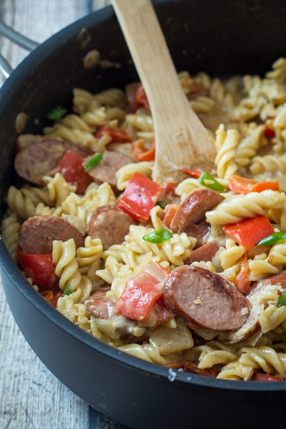 One Pot Sausage and Pepper Skillet