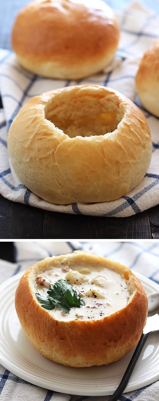 Bread Bowls Recipe — Dishmaps