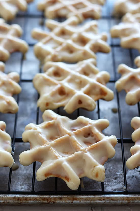 Doughnut Waffles with Maple Glaze - these are the BEST!