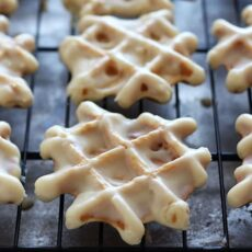 Doughnut Waffles with Maple Glaze