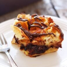 Baked Pumpkin Nutella French Toast